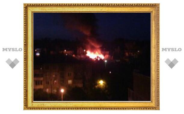 На ул. Каракозова в Туле дотла сгорел жилой дом