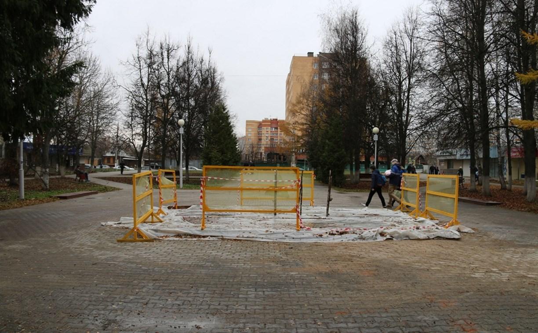 Стелу в сквере Тульского рабочего полка реконструируют к 9 Мая 2019-го