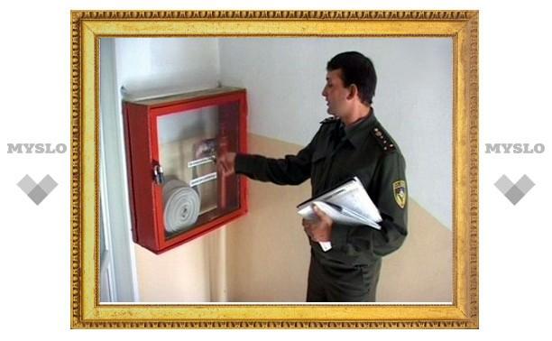 Пожарные проверили школы Тульской области