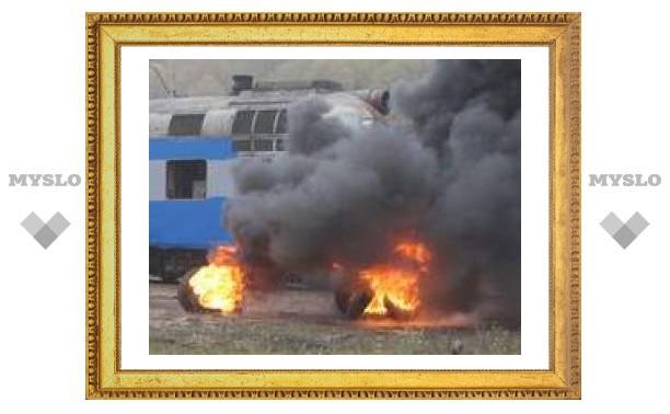 """""""Катастрофа"""" на железной дороге под Тулой"""