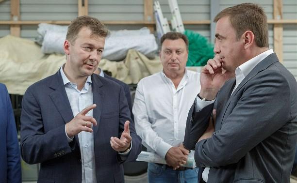 Алексей Дюмин посетил ферму холдинга «Мираторг»