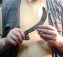 Пенсионер угрожал убить мужчину серпом