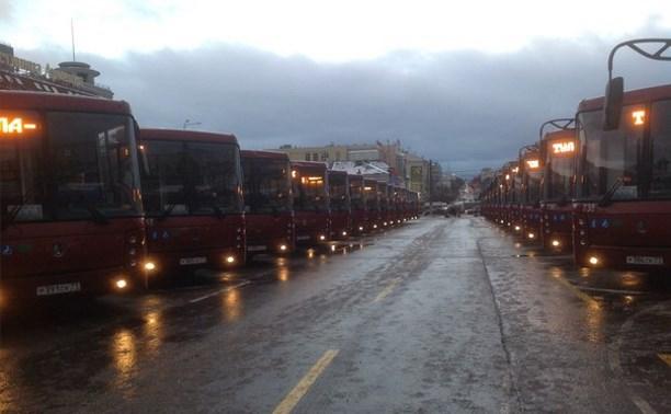 На тульские маршруты вышли 30 новых автобусов