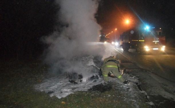 В Туле после ДТП сгорел «Шевроле Лачетти»
