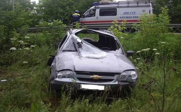 На Венёвском шоссе мужчина разбился на «Шевроле Нива»