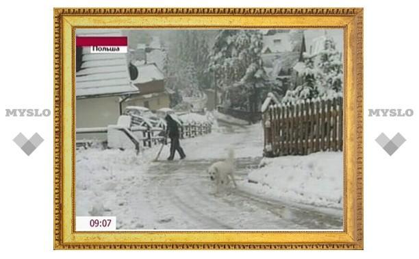 В Польше из-за снежного бурана без света остались 40 тысяч домов