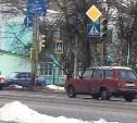 В Заречье возле школы не работает светофор