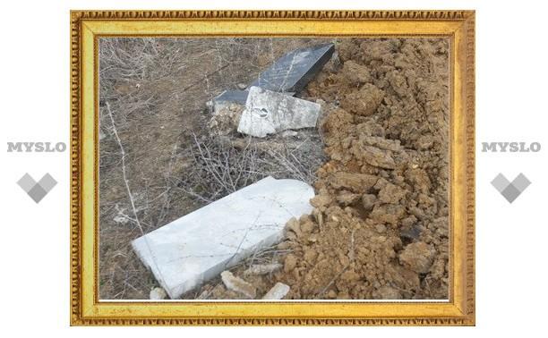 В Тульской области осквернены ветеранские могилы