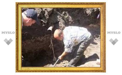 """Под Тулой раскопали череп и """"вальтер"""""""