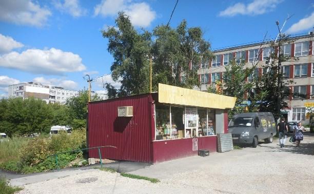 В Заречье нашли незаконный торговый павильон