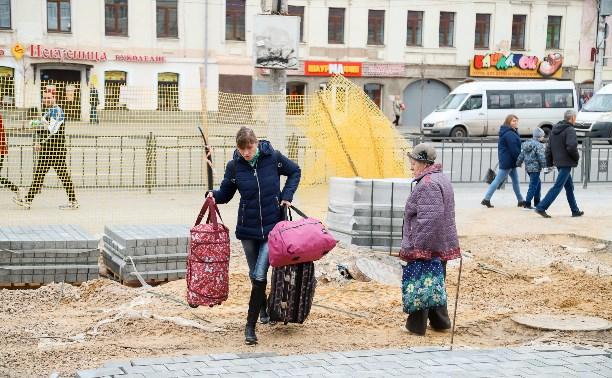 Компания сына экс-мэра Тулы сорвала сроки благоустройства площади у главпочтамта