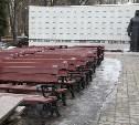 В Туле начали реконструкцию сквера Героев на проспекте Ленина