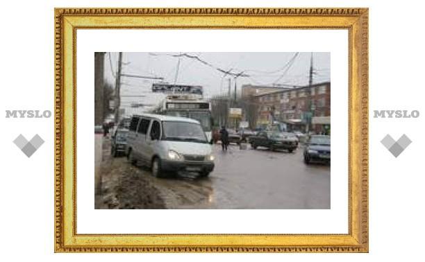Гигантская пробка в южной части города