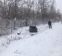 Под Новомосковском после столкновения с автобусом Hyundai вылетел в кювет