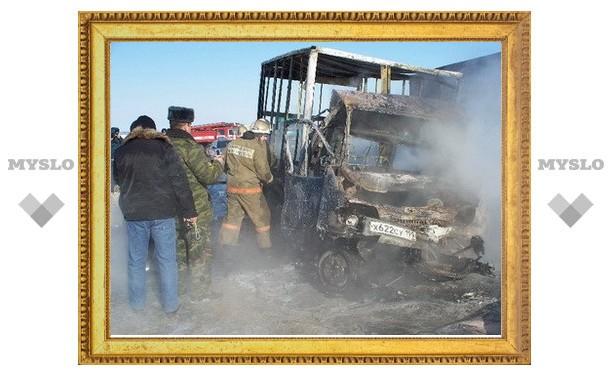 Под Тулой заживо сгорел водитель газели