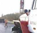 Трассу в Тульской области перекрыл опрокинувшийся грузовик