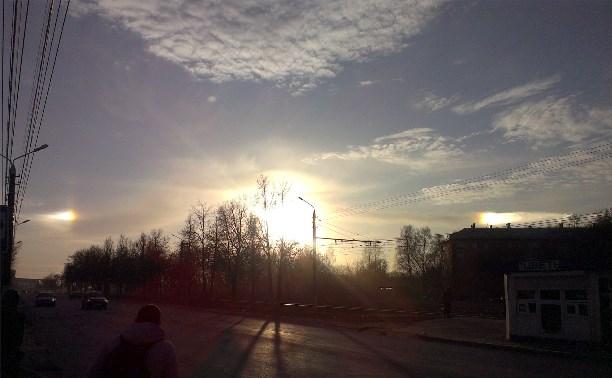 Туляки сняли на видео солнечное гало
