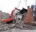 В Пролетарском районе Тулы продолжается снос аварийных домов