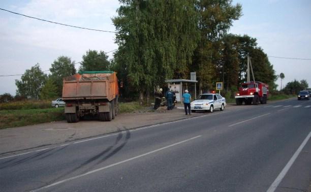В Ленинском районе КамАЗ сбил велосипедиста