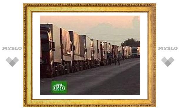 Туляки перекроют дорогу эстонским грузовикам
