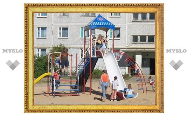 Власти Тулы обещают достроить детские площадки к 18 ноября