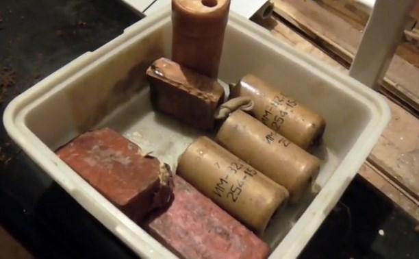В доме у туляка обнаружили гранаты, патроны и тротиловые шашки