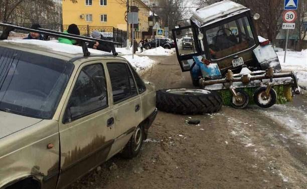 ДТП на улице Галкина: «Дэу» оказался крепче трактора