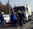 В Туле на Демидовской плотине в ДТП с большегрузом пострадал мужчина