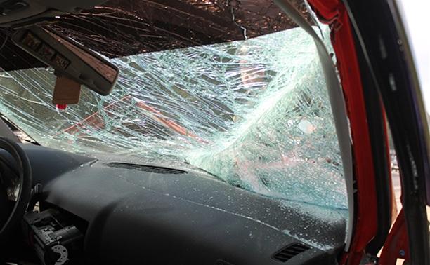 ДТП в Новомосковске: столкнулись 4 автомобиля, три из них загорелись