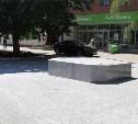 На ул. Советской установили постамент для бронзовой карты достопримечательностей