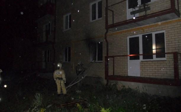 Ночью при пожаре в Туле пострадал мужчина