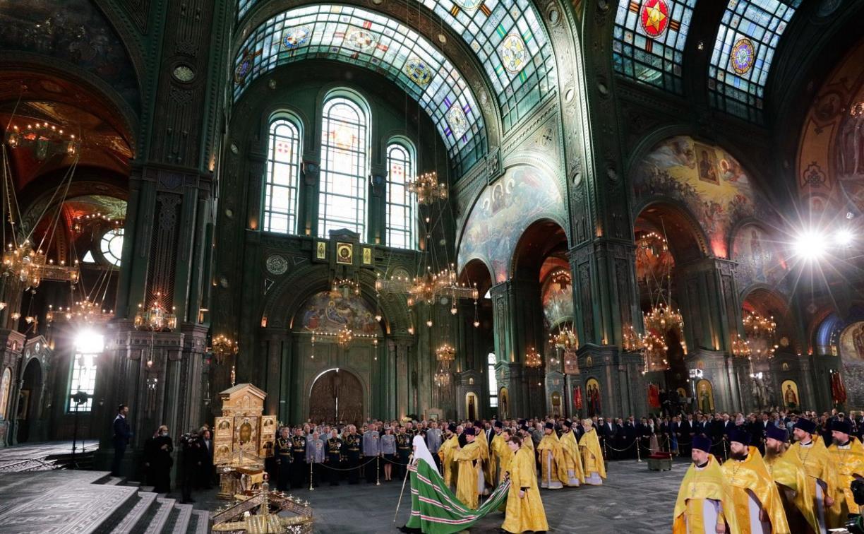 Алексей Дюмин принял участие в церемонии освящения Главного храма Вооруженных Сил РФ