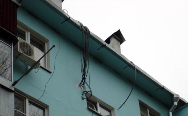 Незаконные интернет-провода в Туле будут срезать
