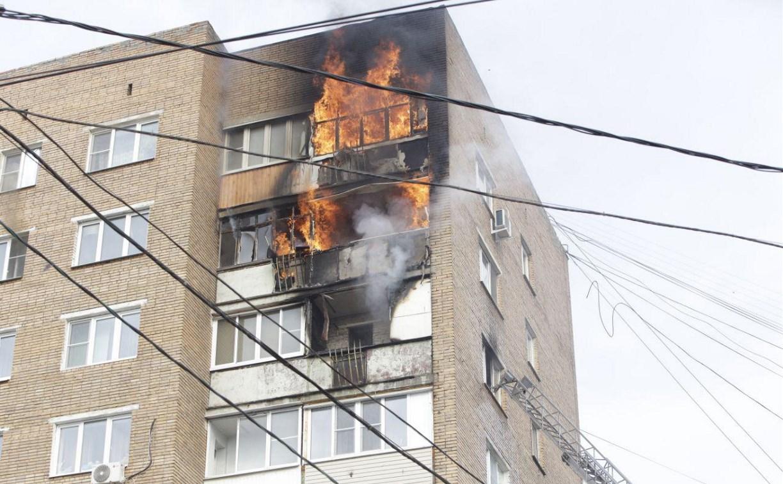 Причиной пожара на пр. Ленина в Туле могла стать детская шалость