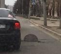 На улице Кирова в Туле на проезжей части открыт люк