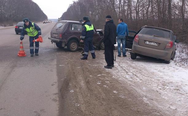 Под Тулой водитель «Нивы» вышел на обгон и устроил ДТП