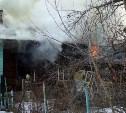 Горящий дом в Щёкинском районе тушили 44 пожарных