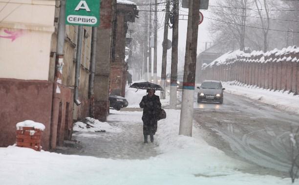 Всю неделю в Тульской области будет тепло и снежно