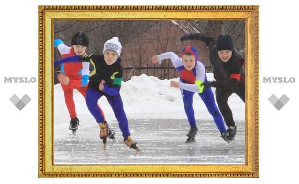 Юные конькобежцы Тулы набирают класс