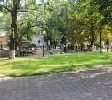 В сквере Коммунаров начались работы по благоустройству