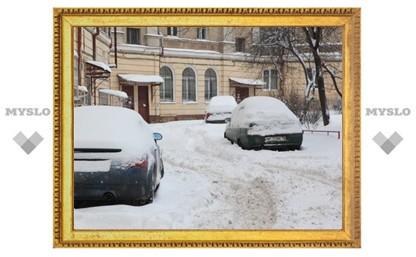 Управляющие компании обязали до 22 января убрать снег в тульских дворах