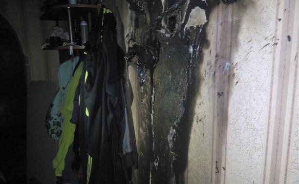 Ночью 4 сентября в Алексинском районе загорелась квартира