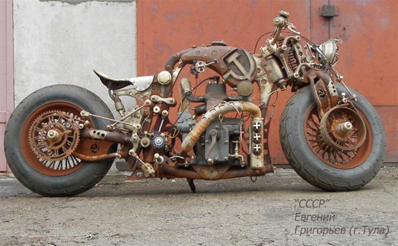 Тульский умелец создал стимпанк-мотоцикл «СССР»