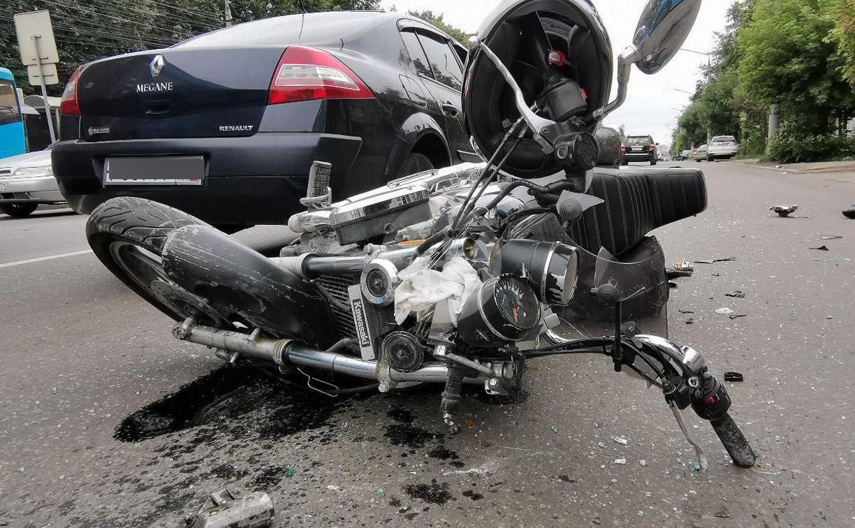 В Туле на улице Металлургов сбили мотоциклиста