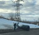 В Туле на Калужском шоссе «Нива» перевернулась после столкновения с «Ниссаном»