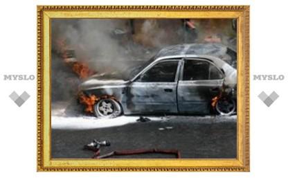 Туляк едва не сгорел в машине