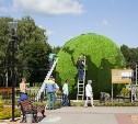 В Центральном парке Тулы установили арт-объект «Зелёная планета»
