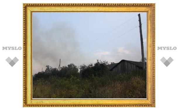 Под Тулой едва не сгорела деревня