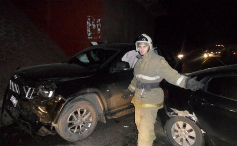 В аварии возле Красных ворот пострадал один человек