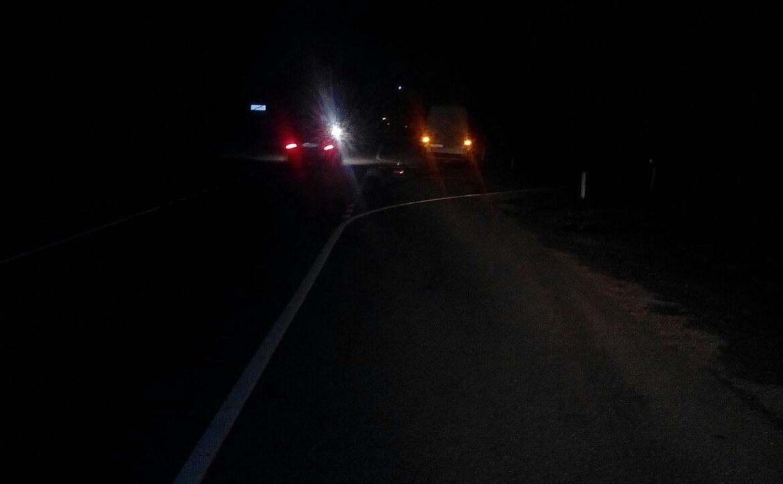 Ночью на М-2 «Крым» «Фольксваген» наехал на пешехода